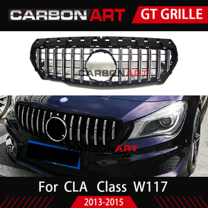 Image 4 - 11.11 CLA W117 GT style Grille for MB Front Grill for CLA Class W117 C117 CLA200 220 CLA260 300 2013 2015 FOR benz front grille