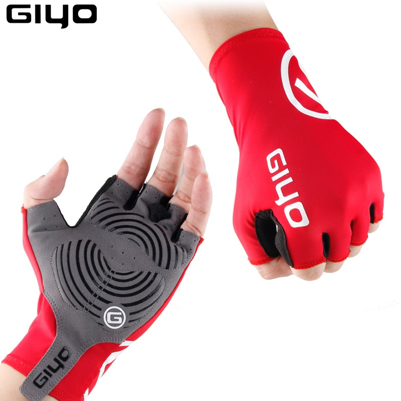 Sports Racing Cycling Mittens Motorcycle MTB Bicycle Half Finger Gloves One Size