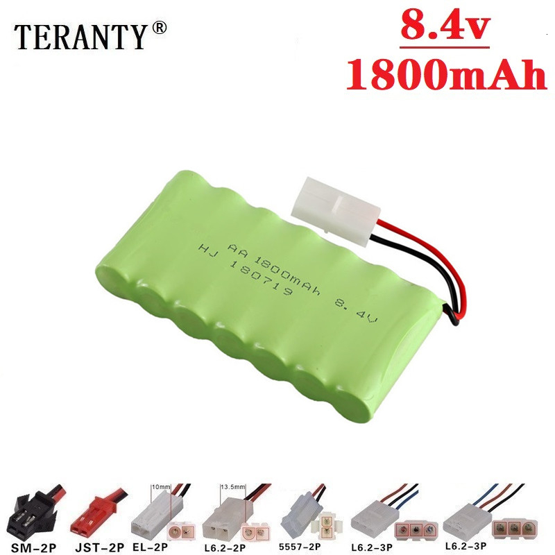 ( M Model ) 8.4v 1800mah NiMH Battery For Rc toys Car Tanks Trains Robot Boat Gun Ni-MH AA 700mah 8.4v Rechargeable Battery image