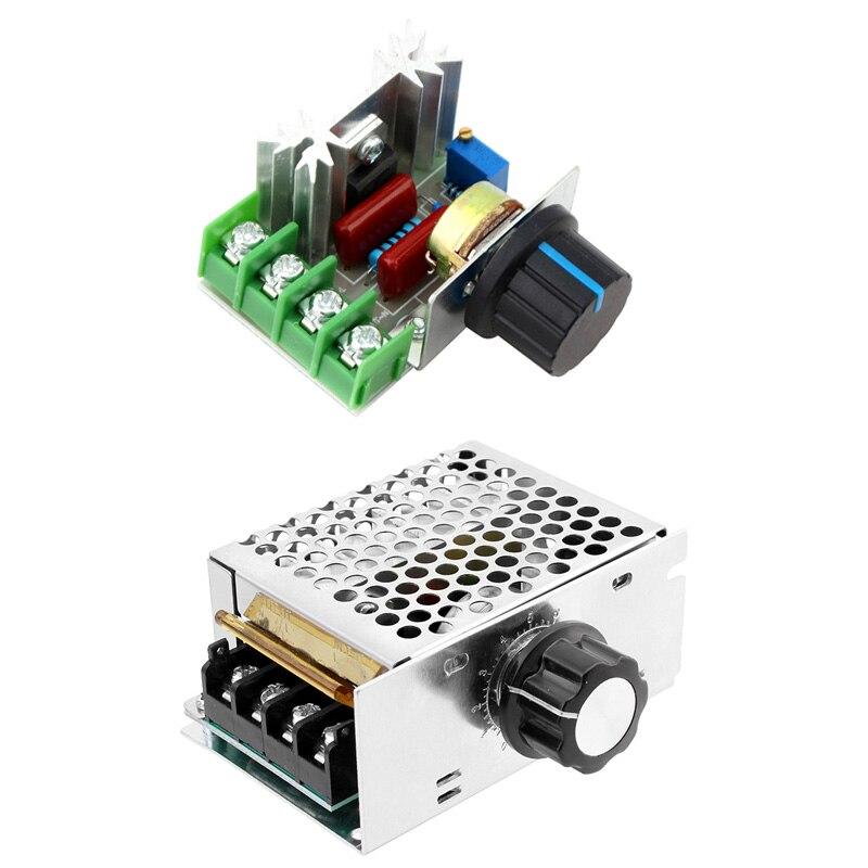 2000 Вт 4000 Вт SCR Напряжение регуляторы диммер, переменный ток, 220 вольтным и Скорость губернатор контроллер термостат, Электронная регулировка стабилизатор модуль Регуляторы напряж./стабилизаторы      АлиЭкспресс