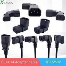 C13-C14 Winkel Power Kabel Stecker IEC 320 C13 Weibliche zu C14 Männlichen PDU Netzteil Verlängerung Kabel, IEC C13 Winkel Adapter 10A