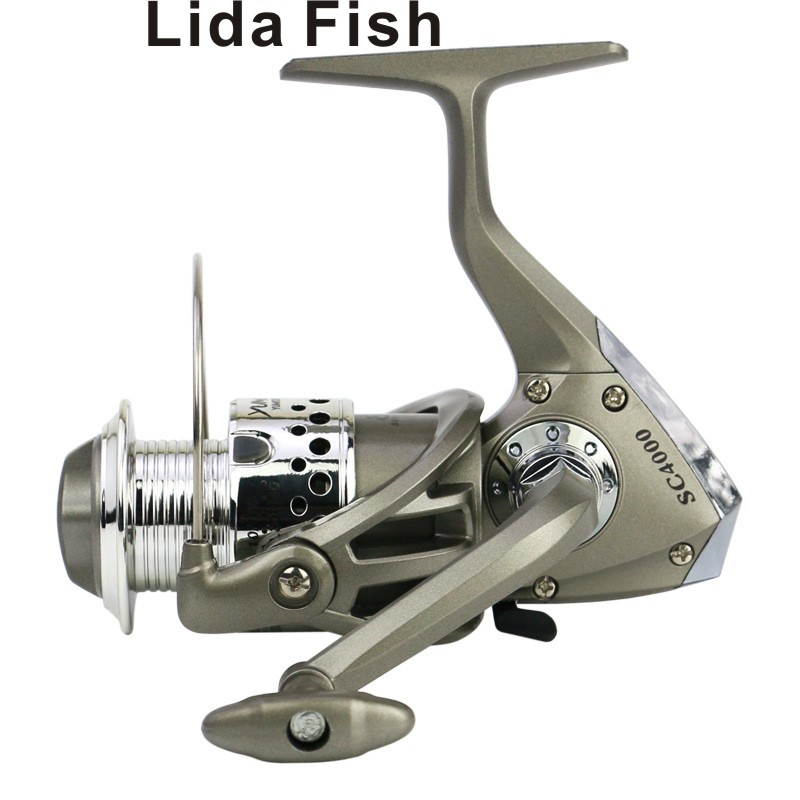 LidaFish Brand SC1000-7000 Silver Grey Series Upgrade 5.5: 1 Plastic Plating Left / Right Hand Fishing Reel