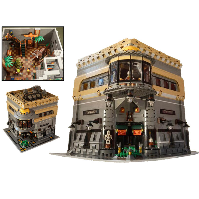 In stock 15015 City Street View The Dinosaur Museum MOC Model Building Kits Brick Toy Educational Toys Compatible With bela