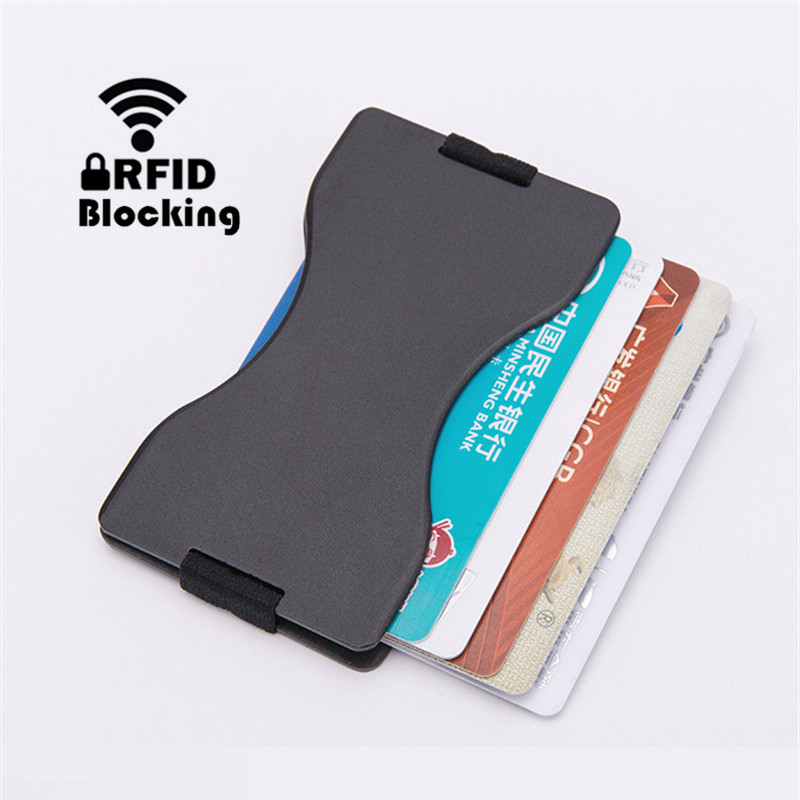 2019 New Aluminum alloy Credit Card Holder Ultralight Minimalist Wallet EDC Wallet Fashion Case Pocket Wallets Thin Cardholder in Card ID Holders from Luggage Bags