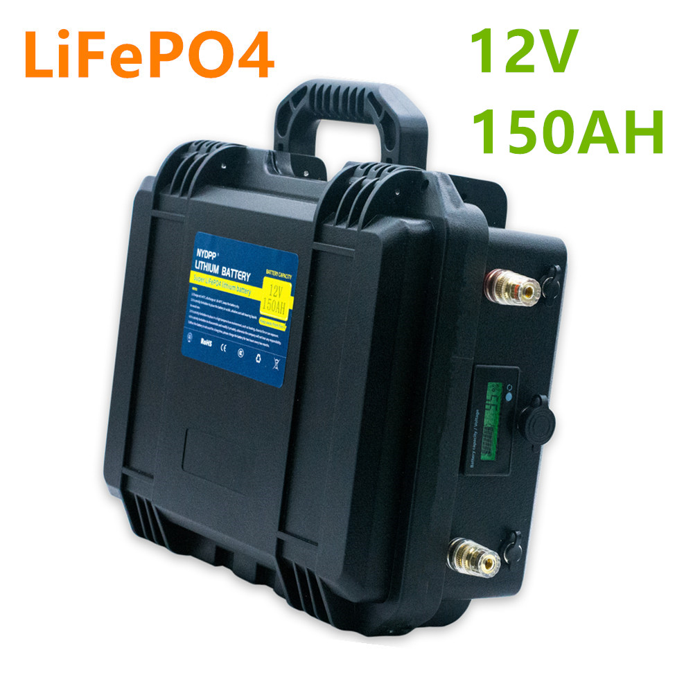<font><b>12V</b></font> lifepo4 <font><b>150ah</b></font> <font><b>battery</b></font> pack lifepo4 <font><b>12V</b></font> <font><b>150AH</b></font> <font><b>lithium</b></font> <font><b>battery</b></font> pack built-in BMS for ship's electric motor,golf cart,etc image