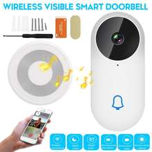 Akıllı kapı zili kamera IP 1080P telefon kapı zili daireler için IR Alarm kablosuz güvenlik interkom WIFI Video kapı zili