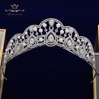 Lady Retro Zircon Crystal Wedding Hair Headbands Brides Tiaras Crowns Headpieces Prom Hair Jewelry