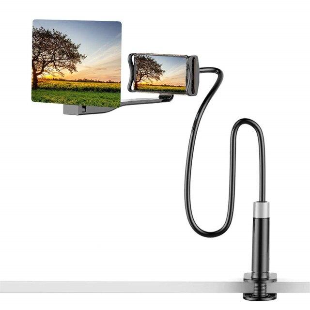 เครื่องขยายเสียงหน้าจอเดสก์ท็อปผู้ถือโทรศัพท์สำหรับ iPhone XS MAX Galaxy 4.5 7.0 นิ้วโทรศัพท์หน้าจอแว่นขยาย 3D ภาพยนตร์ HD