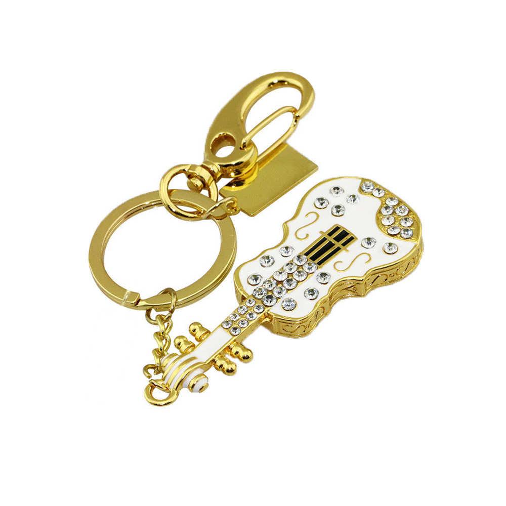 Biżuteria Crystal skrzypce pamięć usb 64GB gitara Pendrive 128GB pen Drive 8GB 16GB 32GB pamięć usb napęd karta pamięci brelok
