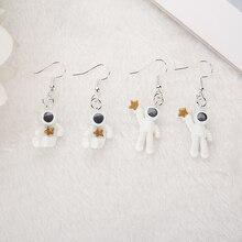 Pentagram Earrings Space Resin Jewelry Gifts Asymmetric Women for Children Brithday Astronauts