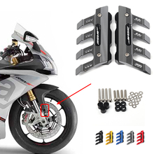 For Aprilia RSV4 RF RSV4 RF Motorcycle Accessories Mudguard Side Protection Block Front Fender Side Anti Fall Slider