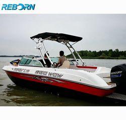 Renacer lanzar barco wakeboard Torre pulido más Pro3 plegable Torre Bimini Top negro dosel paquete