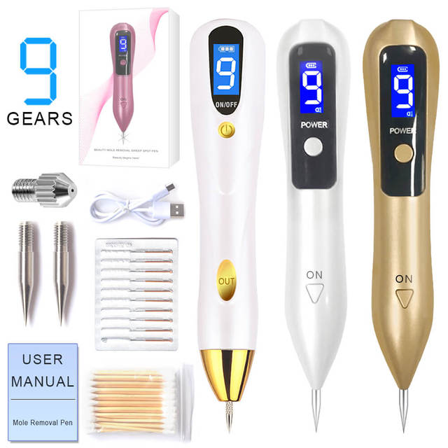 $ US $5.50 Laser Mole Removal Pen Wart Plasma Remover Tool Beauty Skin Care Corn Freckle Tag Nevus Dark Age Sweep Spot Tattoo Electric Set