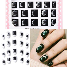 цена на 3D Nail Sticker Transparent Moon Nail Art Decorations DIY Sticker Decals Tips Manicure Charm Design Adhesive Tips Art For Nail