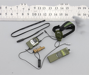 1/6 Scale Army and Marine Corps Earphone Communication Service Set Models for 12''Figures 1