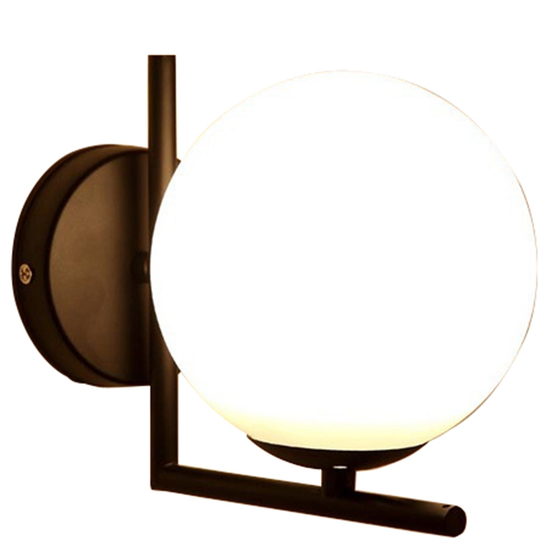 Modern Style Led Wall Lamp Nordic Glass Ball Wall Lamp Passage Corridor Bedroom Bedside Lamp Wall Lamp|Wall Lamps| |  - title=