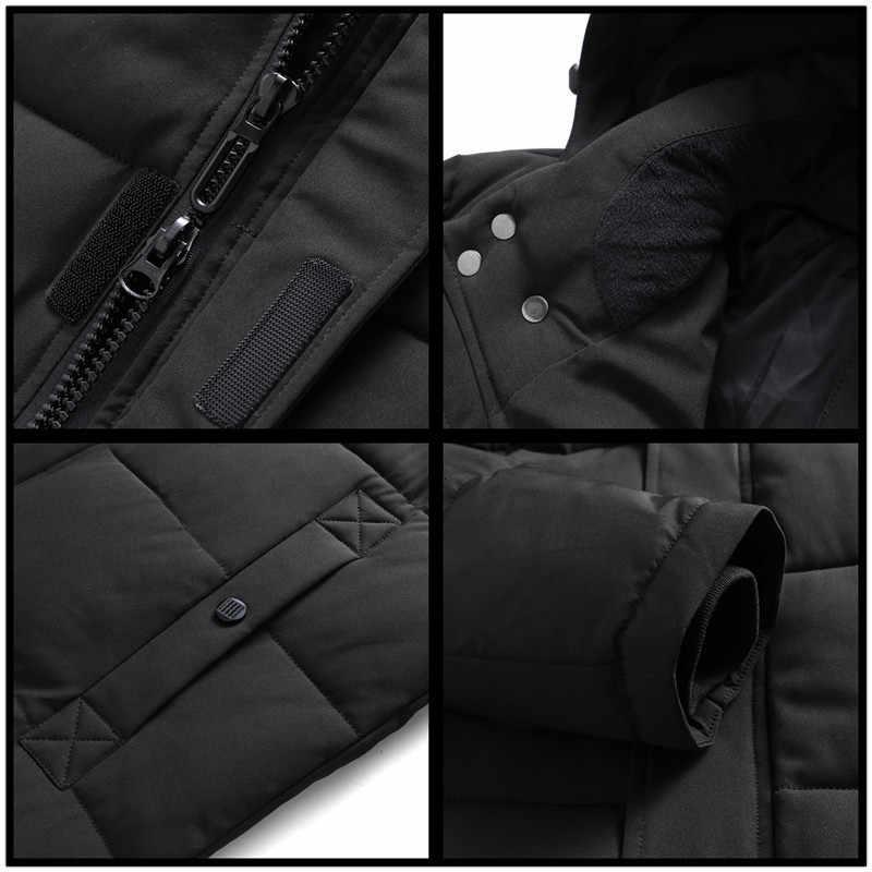 플러스 사이즈 8XL 7XL 6XL 롱 파커 스 겨울 자켓 남성 새로운 따뜻한 방풍 캐주얼 아우터 패딩 코튼 코트 빅 포켓 파커