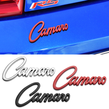 Car Sticker 3D Metal Camaro Letter Stickers Sign Body Front Hood Emblem Badge Auto Accessory For Lacetti Cruze Chevrolet ZL1 SS