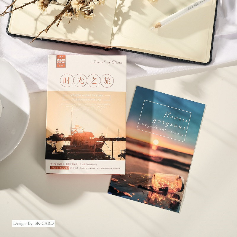 30 Sheets/Set Travel Of Time Postcard Aesthetic Photography Series Greeting Card Message Card Birthday Gift Card