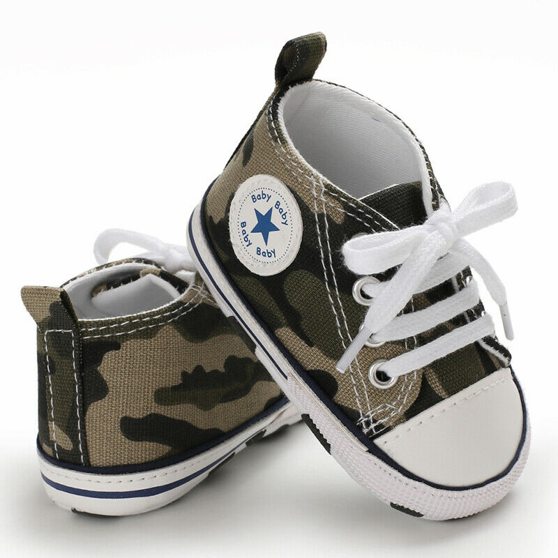 0-12M Baby Boy Girl Anti-slip Soft Sole Crib Shoes Newborn Sneakers Prewalkers /BY