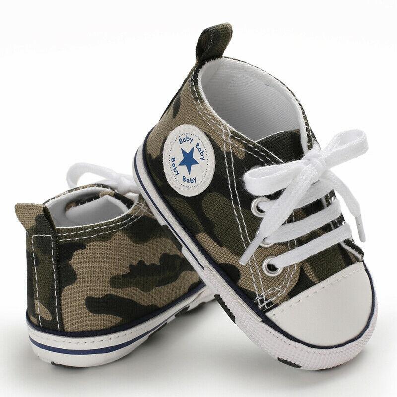 0-12M Baby Boy Girl Anti-slip Soft Sole Crib Shoes Newborn Sneakers Prewalkers /BY