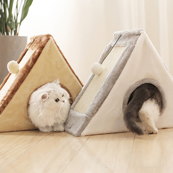 1pc Cat Playing Tunnel Toy With Ball Cats Scratcher Boards Natural Caught Toy Small Cat Houses Cat Climbing Frame Kitten Hot