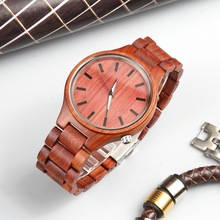 Luxury Brand Men's Wood Quartz Wrist Watch Male Sport Waterproof Watch