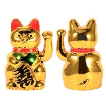 電気中国ラッキー猫大ゴールド振る猫手足アップ富の繁栄歓迎幸運振っ猫の誕生日プレゼント