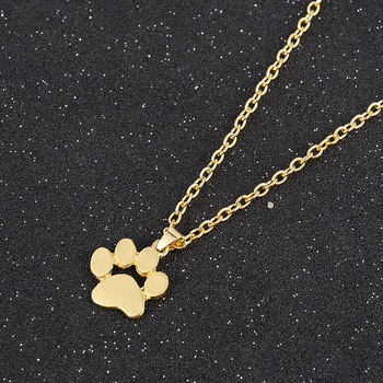 Fashion Cute Pets Dogs Footprints Paw Chain Pendant Necklace Necklaces & Pendants Jewelry for Women long necklace 2