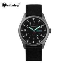 Infanterie militaire montre hommes lueur dans lobscurité montre bracelet hommes montres haut de gamme de luxe armée Sport Date étanche Relogio Masculino