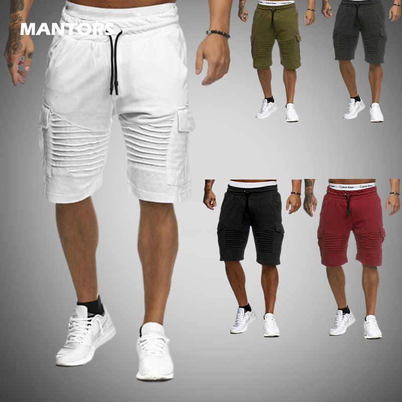 אביב קיץ מכנסיים קצרים גברים מקרית קצר מכנסיים 2020 כיסי מכנסיים קצרים מטען גברים של מכנסי טרנינג כושר חדרי כושר מכנסיים בגדי Streetwear