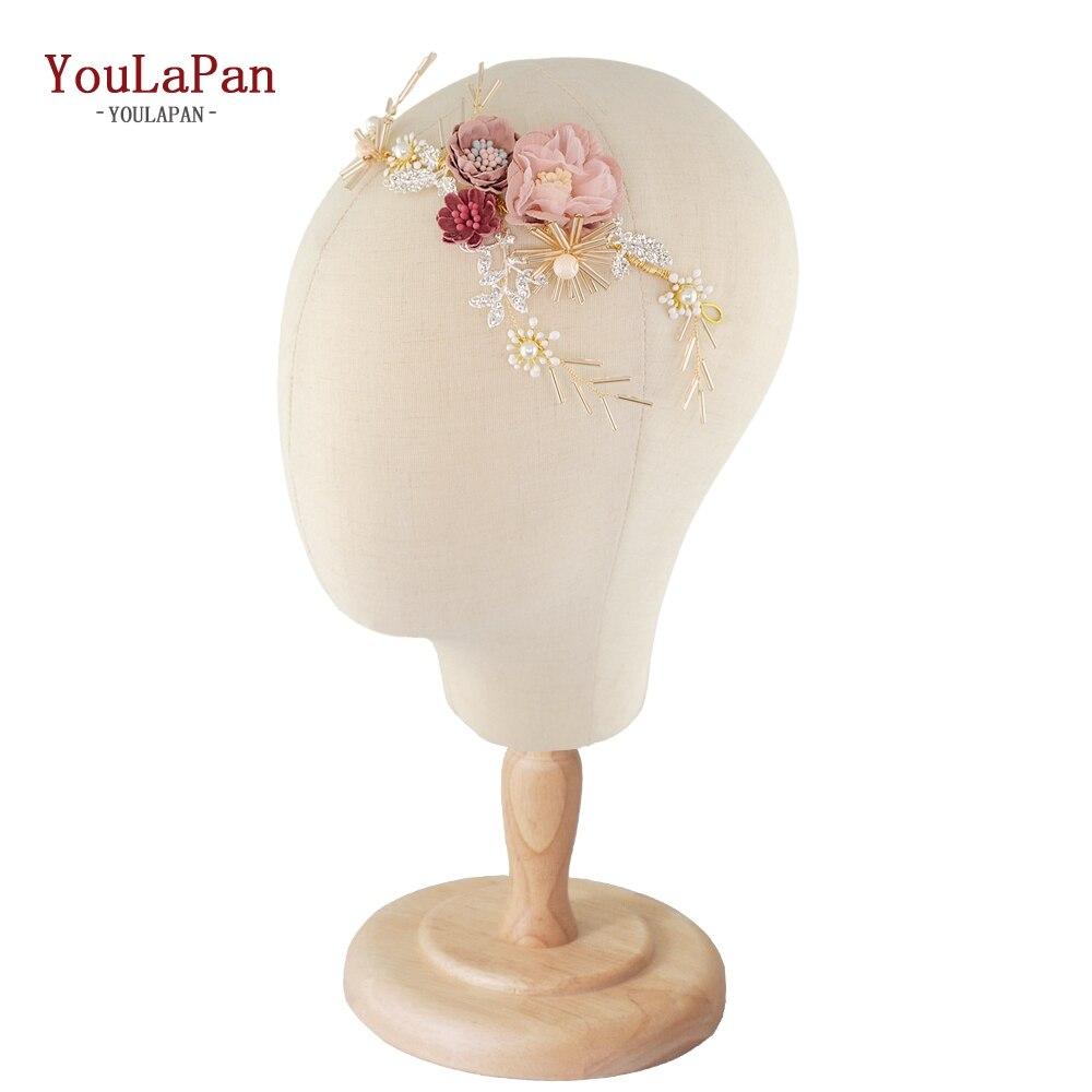 YouLaPan HP190 Flower Headband Bridal Tiaras Hair Jewelry 2019 Western Wedding Fashion Headdress Floral Pearl Hair Accessories
