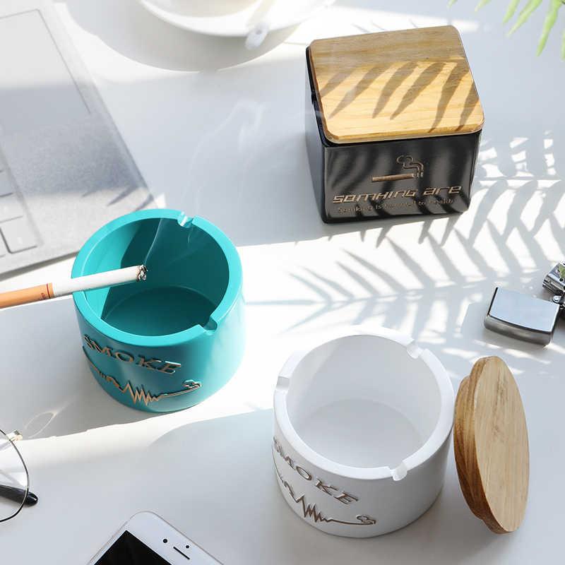Resina Moden Posacenere Con coperchio per Tavolo Regalo per gli amici Hotel outdoor decorazione della casa Senza Fumo Posacenere Titolare