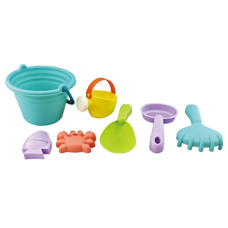 Bucket Bath Digging Sand Shovel Toy Baby Soft PP Play Sand Tool Children Beach Toy Set