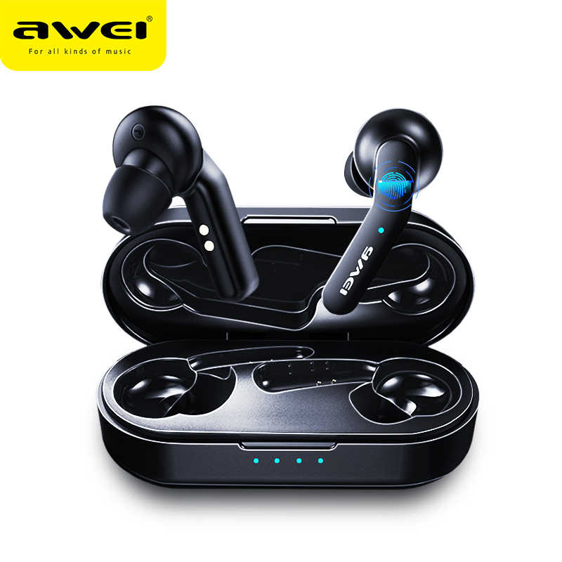 الأصلي AWEI T10C TWS سماعة لاسلكية تعمل بالبلوتوث سماعات الرأس الحنفية التحكم سماعة سمّاعات أذن لاسلكيّة ل شاومي