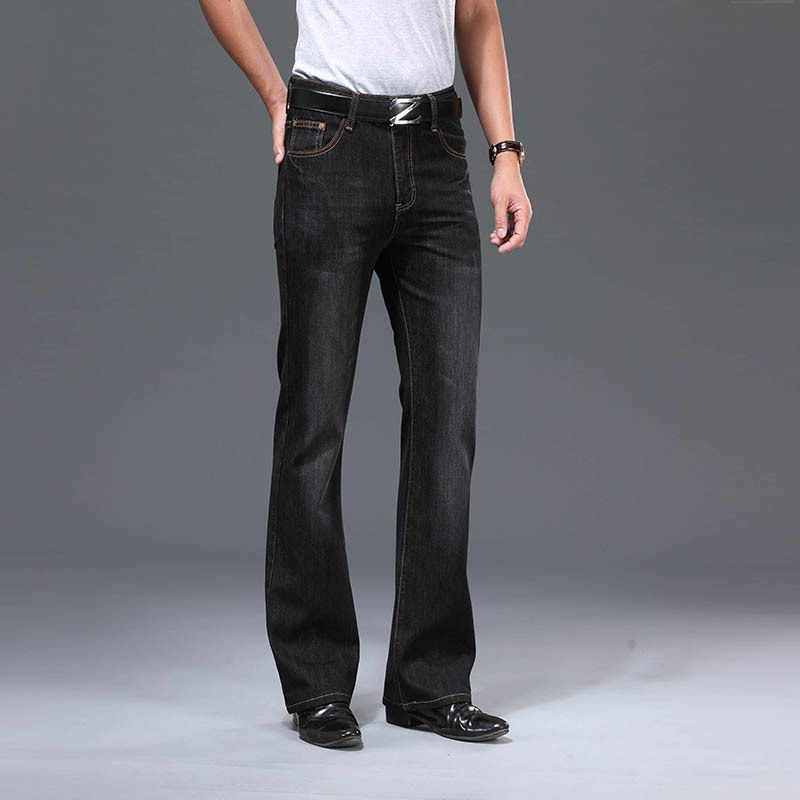 Modis Pantalones Vaqueros De Cintura Alta Para Hombre Vaqueros Con Corte De Bota Acampanados Holgados De Disenador Clasico 2021 Pantalones Vaqueros Aliexpress