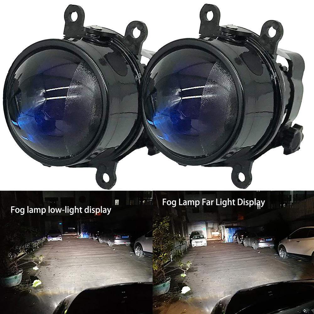 NEW LED Xenon H11 Lens Fog Light Car Styling Fog Light For Focus MK2/3 Fusion Fiesta MK7 Automobiles H11 Socket Halogen Lamp