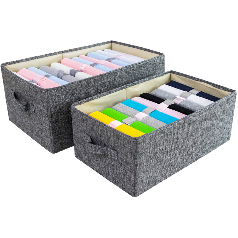 Non Woven Clothes Storage Box with Handle and Large Space Suitable for Home Closet