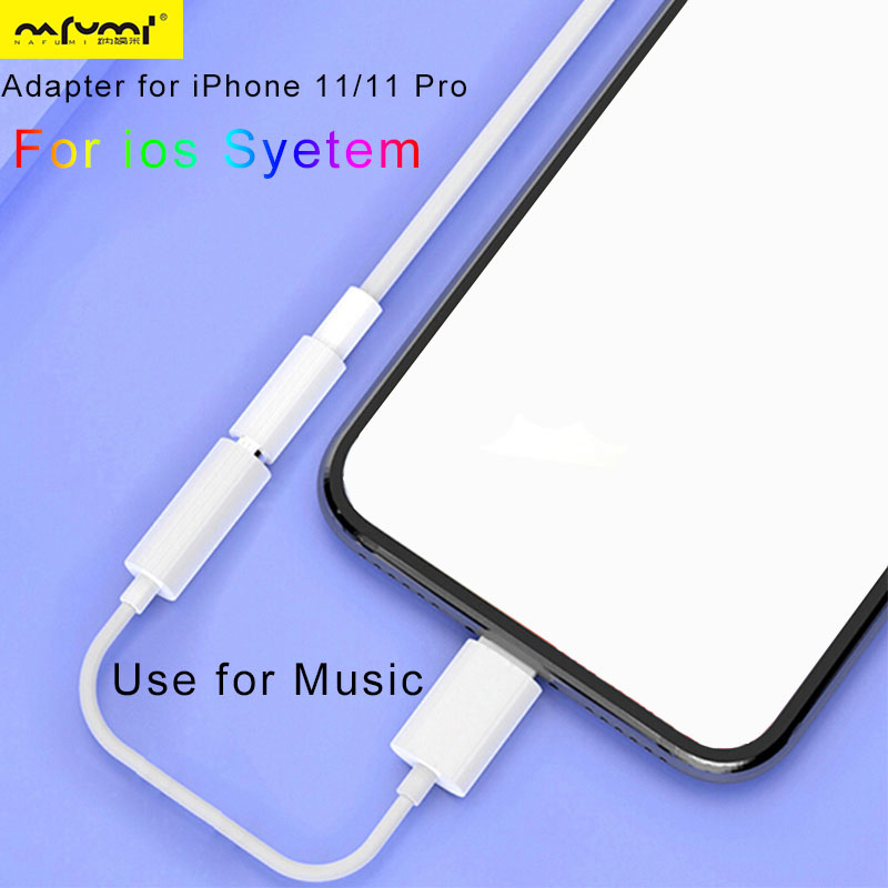 Headphone Adaptador For IPhone Ios System 13 12 11 System To 3.5mm Earphone Jack Cable AUX Audio Adapter For IPhone 7 11 Pro