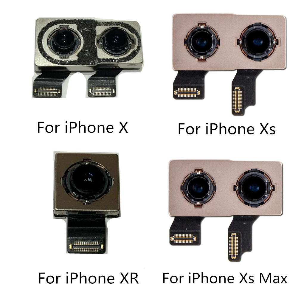 Back Main Camera For IPhone X Camera XS Max 11 11pro Back Camera Rear Main Lens Flex Cable Replacement Parts For IPhone Camera