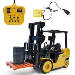 Wózek widłowy 1:8 RC pilot idealny prezent zabawka 2.4G Auto demonstracja światła LED inżynieria samochodów 4.10 w Samochody RC od Zabawki i hobby na