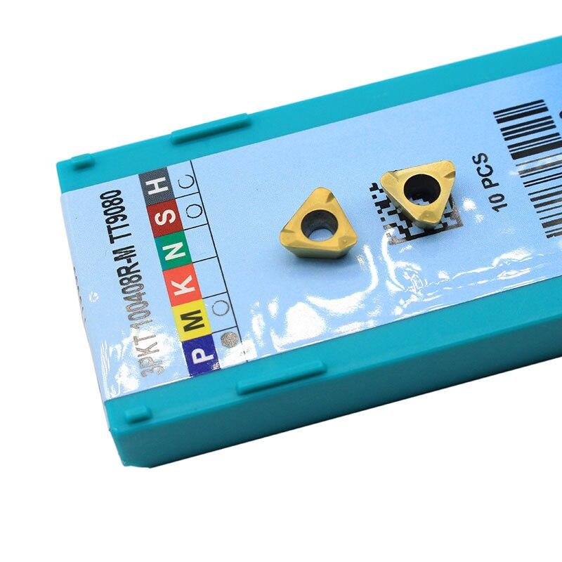 10pcs 3PKT150508 R M TT9080 Carbide Insert Milling Machine Turning Blade 3PKT Milling Machine Turning Tool