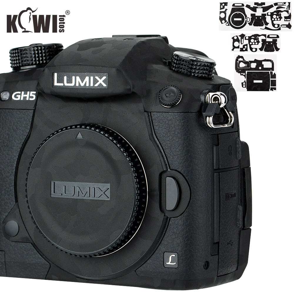 Kiwi Anti-ScratchCamera Body Cover Skin ProtectorFilm For Panasonic Lumix DC-GH5 GH5 Camera Anti-Slide 3M Sticker Shadow Black