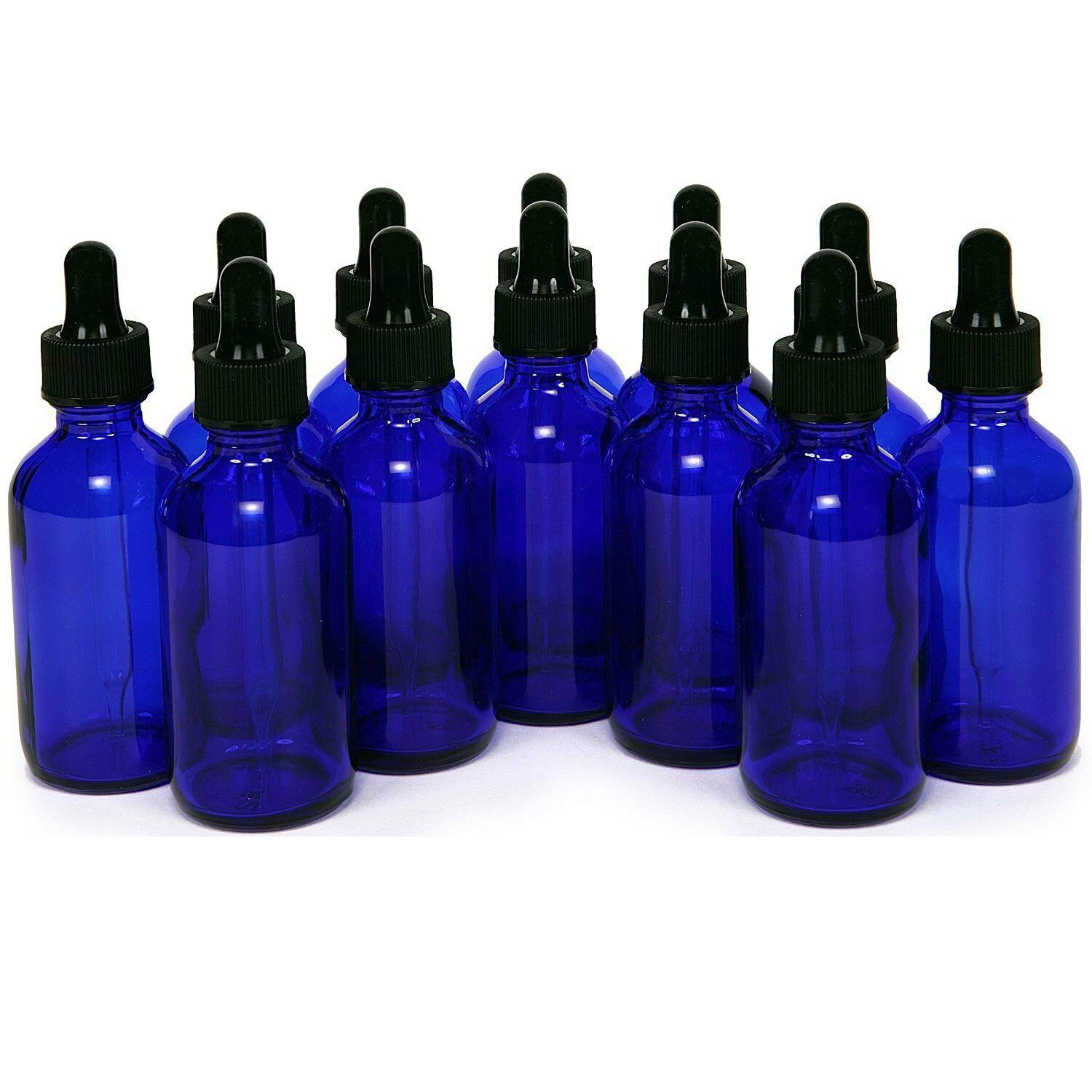 30ML Essential Oil Bottles Blue Glass Bottles With Glass Dropper Travel Dropper Liquid Pipette Bottle Refillable Bottles