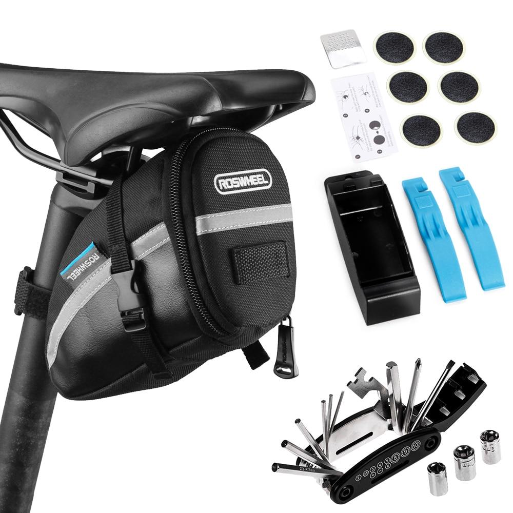 Набор инструментов для ремонта горного велосипеда, сумка для седла велосипеда, комплект многофункциональных инструментов 16 в 1 для горного ...