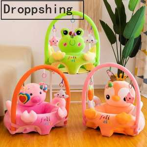 Sofa-Set Support-Seat-Cover Plush-Chair Baby Cartoon Puff-Washable Learning-Sit Toddler