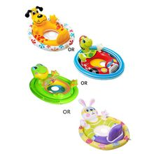 Cartoon Cartoon Animal Baby Swimming Float Ring Double Airbag Safety Seat Baby Kids Pool Bathtub Outdoor Water Entertain Toy