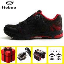 Tiebao-zapatillas deportivas de ciclismo para hombre y mujer, calzado deportivo para ciclismo de montaña, SPD, Unisex