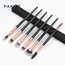 6pcs Makeup Brushes Set Smooth Concave Handle Eye shadow Eyebrow Powder Make up Tool Kit Set drop shipping