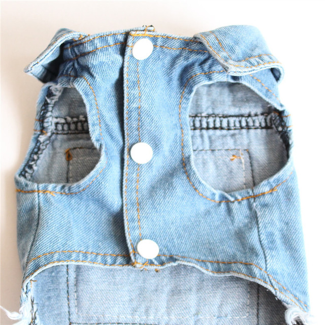 New Casual Graffiti Pattern Denim Dog Vest Spring Autumn Pet Clothing Cat Puppy Dog Clothes For Small Medium Dog Suppliers